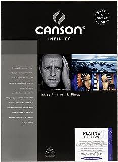 Canson infinity Platine Fibre Rag 206211037 - Papel fotográfico (A3 25 hojas) color blanco