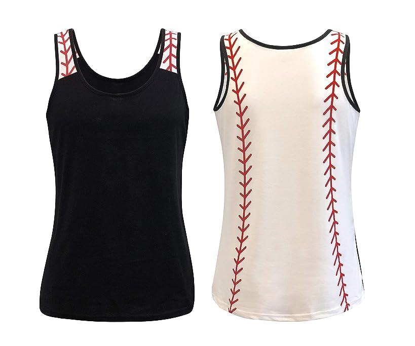 ILTEX Sports Tank Tops for Mom Fans Apparel Baseball Softball Basketball Soccer Volleyball