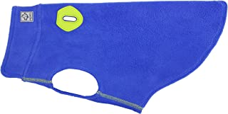 RC Pet Products 66016008 Baseline Dog Fleece Dog Coat, Electric Blue/Lime, 16