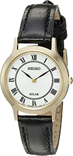 SEIKO Solar Leather Strap Watch - Round