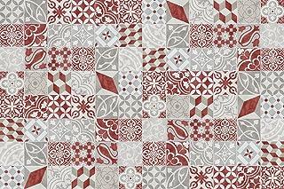 133x200 cm Alfombra de vinilo Antique VINILIKO Rojo
