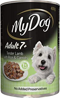 My Dog Adult 7+ Tender Lamb Wet Dog Food 400G Can 24 Pack, Adult/Senior, Small/Medium