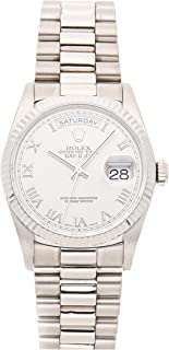 Rolex Day-Date Mechanical (Automatic) Rhodium Dial Mens Watch 18239 (Certified Pre-Owned)