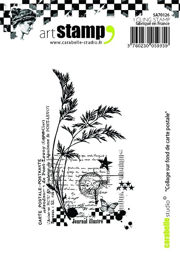 Carabelle Studio SA70126 A7 Cling Stamp - Collage sur fond de carte postale
