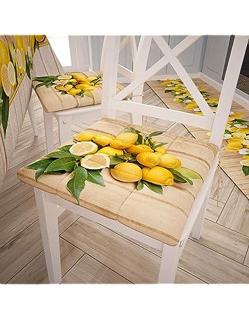 4 Punti Set da 6 colore:limone PETTI Artigiani Italiani Cuscini Coprisedia Cucina