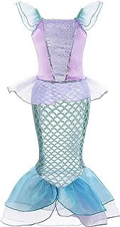 Little Girl Mermaid Princess Costume Sequins Party Dress