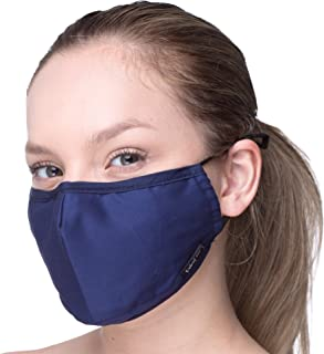 Debrief Me Anti Air Respirator Breathable Pollution Masks Carbon Activated Filtration (1 Mask+4 Filters) N95 Anti Bacterial Face Pollution Mask -Reusable Reusable comfy Cotton (Dark Blue)