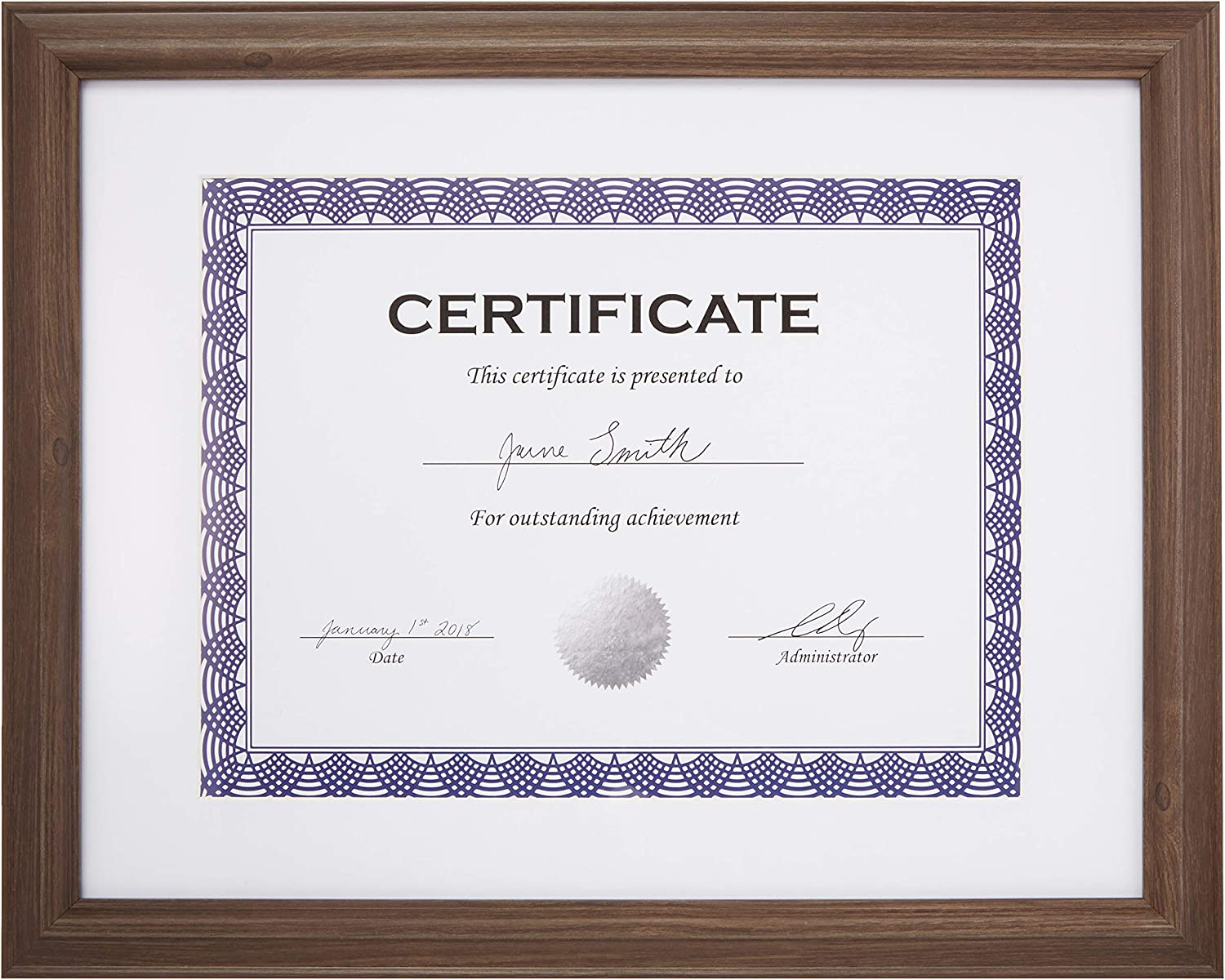 Amazon Basics Certificate Document Frame With x 8.5