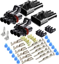 3-Pin Delphi Metri-Pack Waterproof Connector 30 Amp 10-12 GA (3-Pin (2 Set) w/10-12GA)