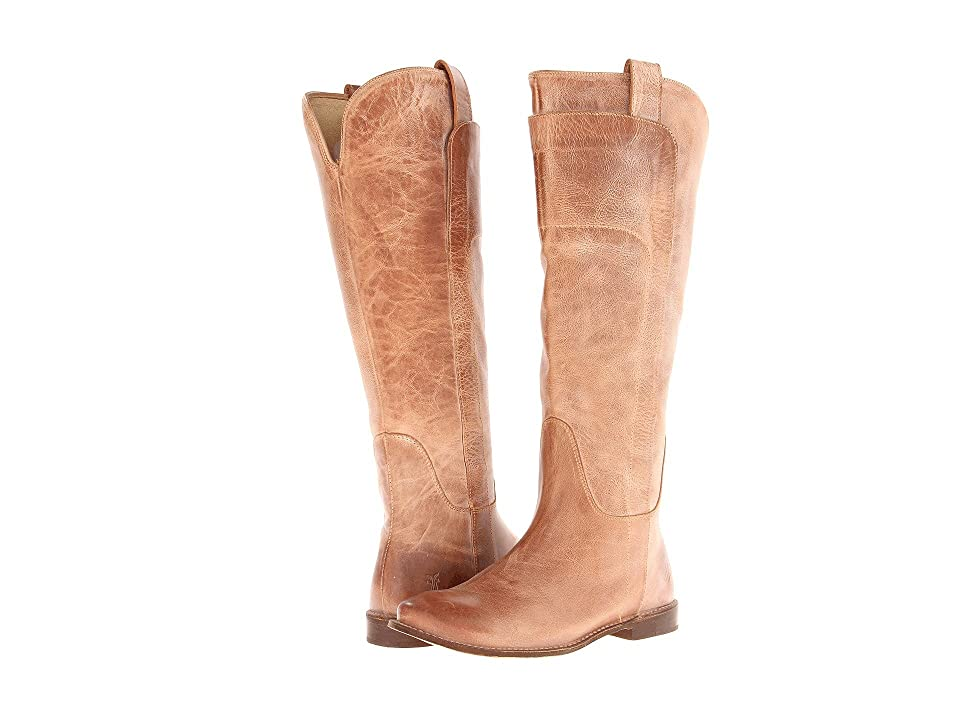 Frye Paige Tall Riding (Tan Burnished Antique Leather) Women