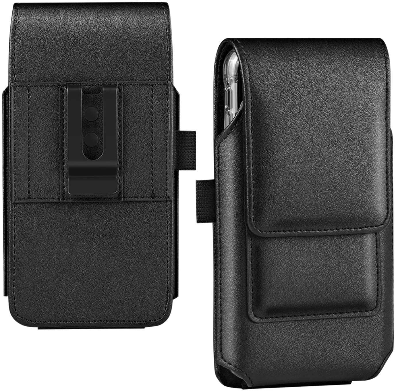 BECPLT Galaxy Note 10 Holster Black Mobile Phone Belt Pouch Holster Cover Belt Clip Case Pouch for Samsung Galaxy Note 10 /Galaxy S10 /Galaxy S9 (Fit w/Thin Case on) -Black