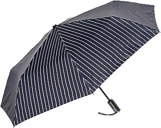 [ムーンバット] LANVIN en Blue(ランバン オン ブルー) 紳士 【WJ傘】ダブルジャンプ傘 ツイルプリント ストライプ メンズ