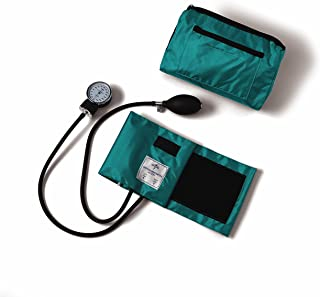 Medline Compli-Mates Aneroid Sphygmomanometer Kit with Carrying Case, Adult Blood Pressure Cuff, Manual, Professional, Teal