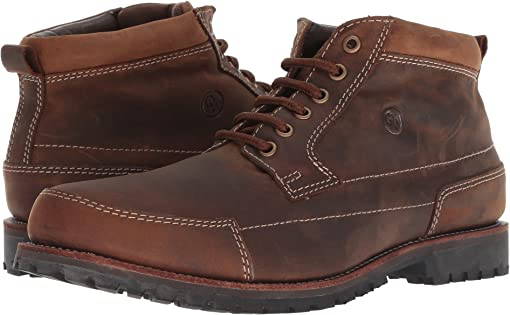 Dr martens reed 3 eye chukka boot brown old harness + FREE