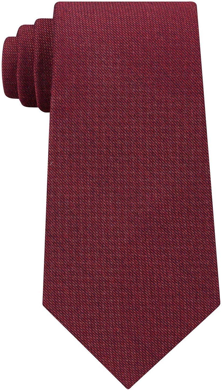 Calvin Klein Mens Silk Virginia 35% OFF Beach Mall Blend Work Red Neck Wear Tie O S