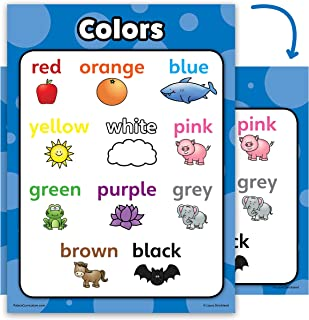 Colors Poster Chart - LAMINATED - Double Sided (18 x 24)