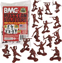 BMC Classic Marx Russian Plastic Army Men - 36pc WW2 Soldier Figures Made in USA