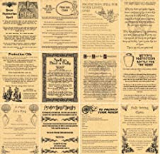 Book of Shadows Spell Pages, Set of 12 Protection Spells, Witchcraft, Wicca, like Charmed (Gold)