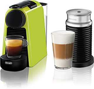 Nespresso by De'Longhi EN85LAE Essenza Mini Original Espresso Machine Bundle with Aeroccino Milk Frother by De'Longhi, Lime