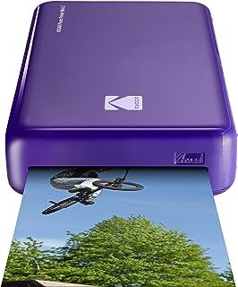 Kodak - Impresora fotográfica mini 2HD instantánea inalámbrica y portátil con tecnología de impresión patentada 4Passcompatible con iOS y Android purpura