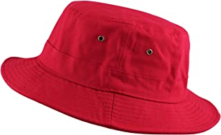 f0e776c92be THE HAT DEPOT 100% Cotton Canvas Packable Summer Travel Bucket Hat