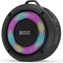 HANRICO Portable IPX7 Waterproof Bluetooth Speaker, Wireless Pairing, LED Lights, 5W HD Sound and Rich Stereo Bass, 10H Pl... photo