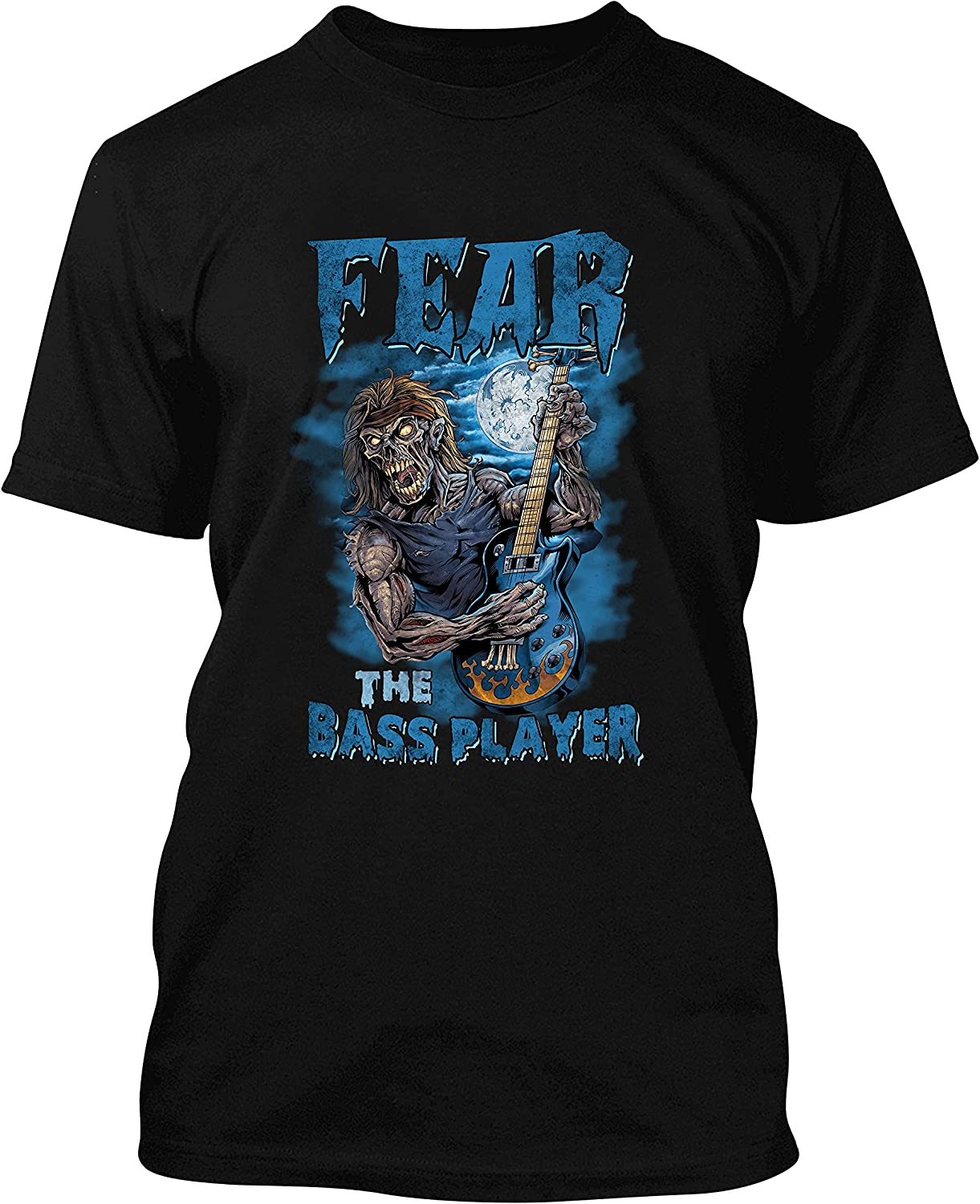 Fear The Max 46% OFF Bass Player Zombie Guitar T-Shir Fashionable Halloween Playing