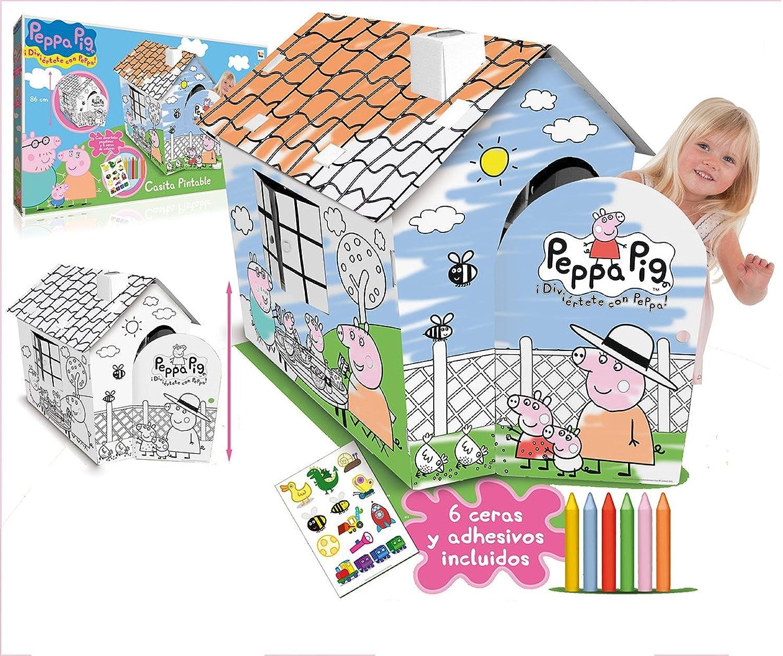 IMC Toys – Häuschen pintable Peppa Pig Pig Pig mit 6 Flanellhemden und Aufkleber 43 – 360006 B009HP3RDQ   Auf Verkauf  73ecff