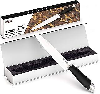 Samurai Couteau ceramique 20CM lot Couteau Professionnelle Couteaux Cuisine Couteau Cuisine Blanc