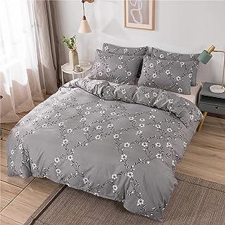 Yinghesheng Housse de Couette 220x240 cm avec 2 Taies d'oreiller 50x75 cm - Parure de Lit 2 Personnes avec Fermeture Éclai...