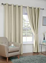 Jvin Fab Imported Eyelet Silk Door Curtains 8 Feet - Set of 2 Pices | Living Room/Office/Dining Hall/Hotel (8 Feet, Ivory)