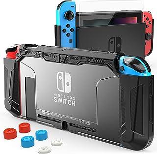 HEYSTOP Carcasa Compatible con Nintendo Switch, Funda Switch con Protectora TPU Grip Funda de Agarre Compatible con la Con...