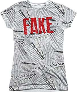 Fake News Costume Donald Trump Junior's Sublimated T Shirt