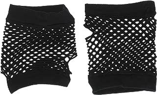 short black fishnet gloves