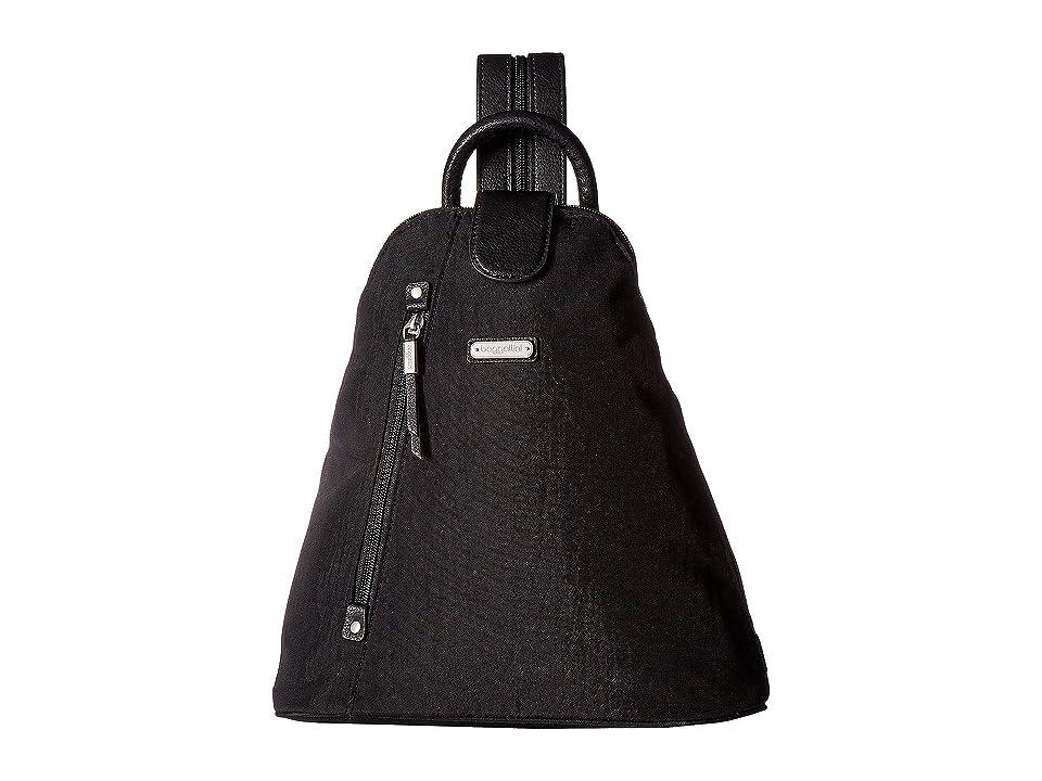 Baggallini Metro Backpack with RFID Phone Wristlet (Black) Backpack Bags