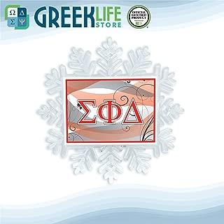 greeklife.store Sigma Phi Delta Snowflake Ornament Christmas Decor
