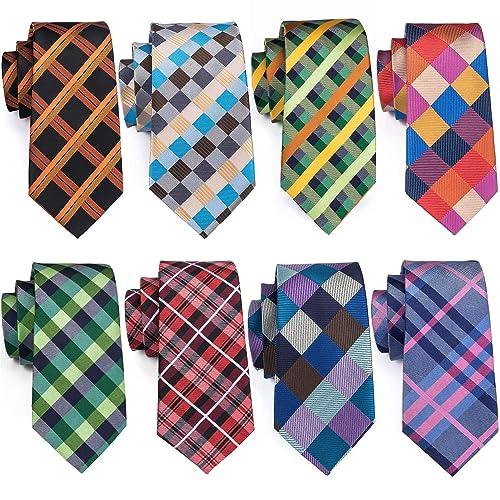 3d2a5a021596 Wang Men's Tie Set Silk Wedding Neckties Jacquard Woven Fashion Formal  Business