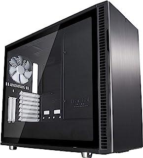 Fractal Design Define R6 Midi-Tower Negro - Caja de Ordenador (Midi-Tower, PC, Aluminio, Vidrio Templado, Negro, ATX,EATX,ITX,Micro ATX, Juego)