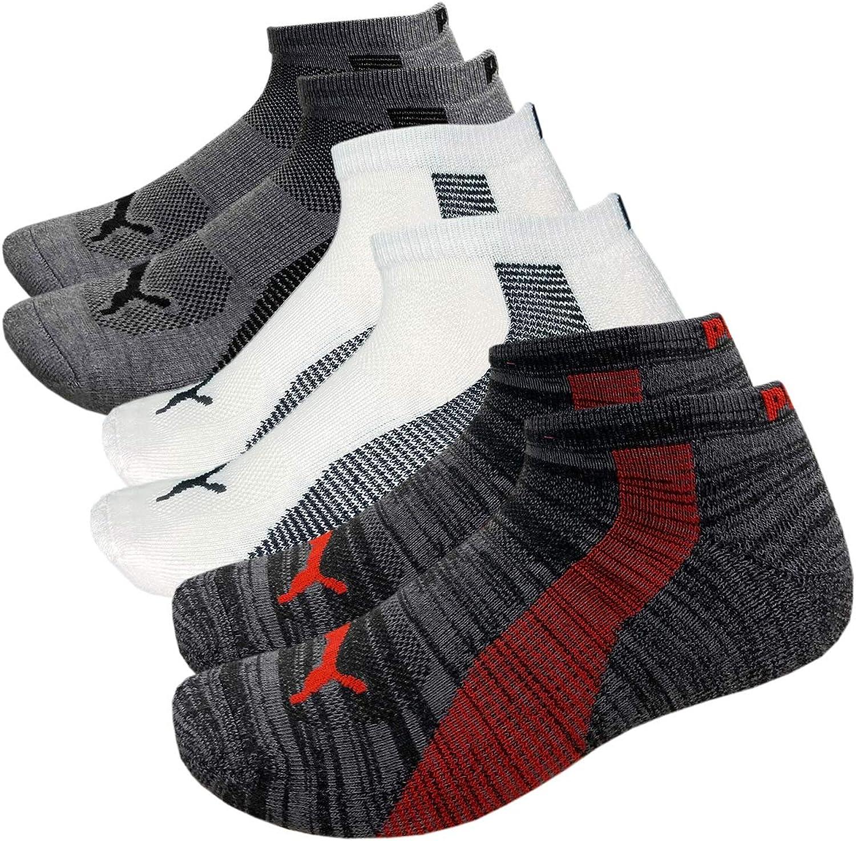 Puma Men's Socks 6-Pack Low-Cut 1/2 Terry