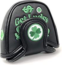Mallet Putter Headcover - Lucky Clover Replacement Putter Covers - Compatible with Odyssey 2Ball Putter, Scotty Cameron, Taylormade, Titleist, Ping and Mizuno Putters.