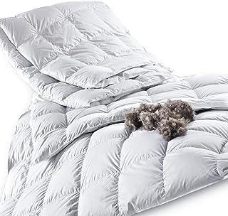 Königin der Nacht ORIGINAL EIDERDAUNEN Bettdecke 155x220 cm, leicht Sommer Wärmegrad 2, Füllgewicht: 297 g