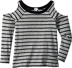 Always Cold Shoulder Stripe Top (Big Kids)