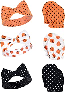 Hudson Baby Baby Headband and Scratch Mitten Set, 6-Piece