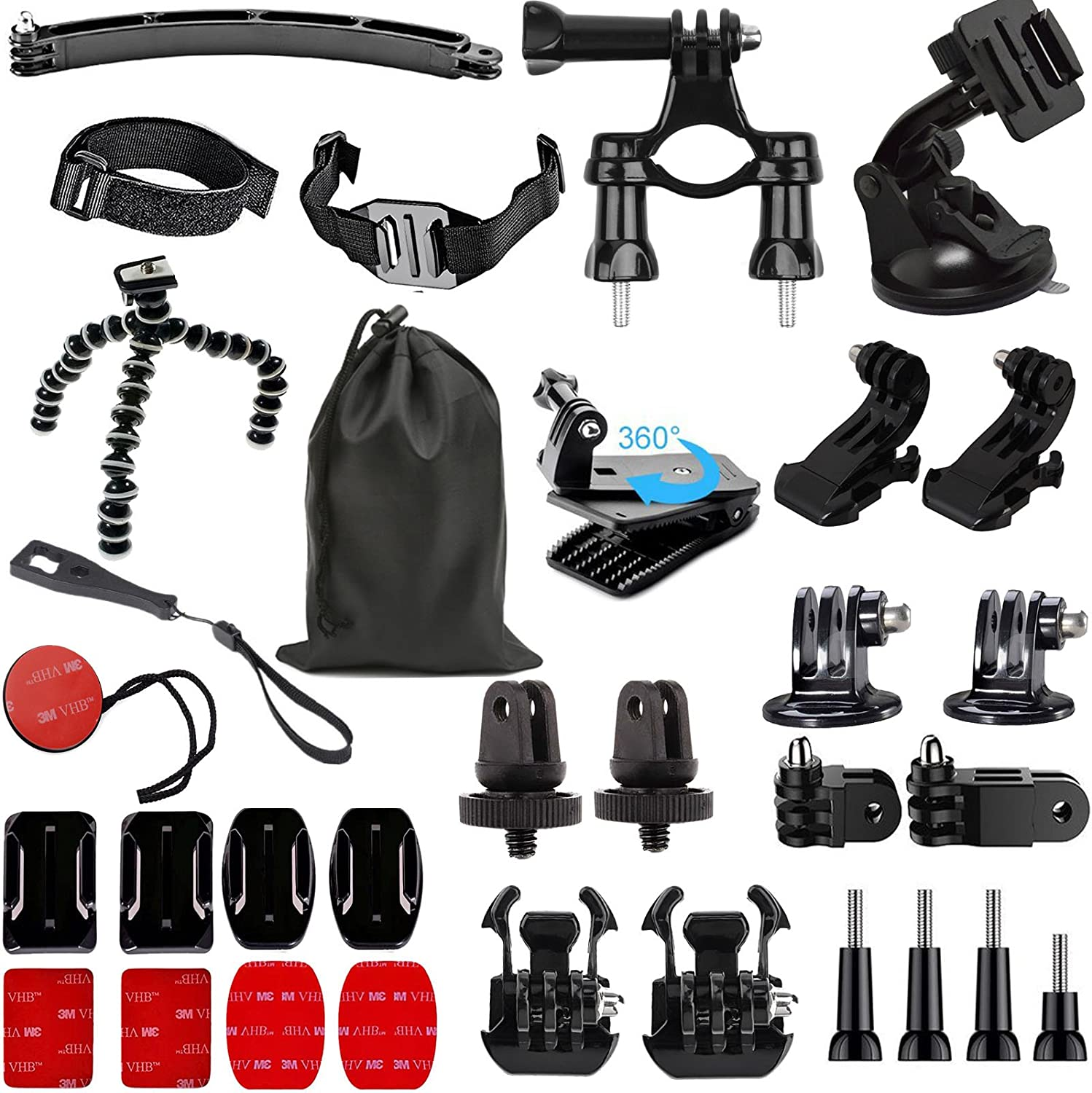 SUNMENCO 32-in-1 Action Camera Accessories Adhesi Helmet favorite 3M SEAL limited product Kits