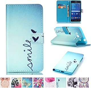 Galaxy Grand Prime Case, Firefish [Card Slots] [Kickstand] Flip Folio Wallet Case Synthetic Leather Shell Scratch Resistant Protective Cover for Samsung Galaxy Grand Prime (SM-G530)
