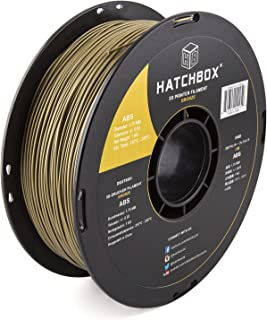 HATCHBOX ABS 3D Printer Filament, Dimensional Accuracy +/- 0.03 mm, 1 kg Spool, 1.75 mm, Bronze