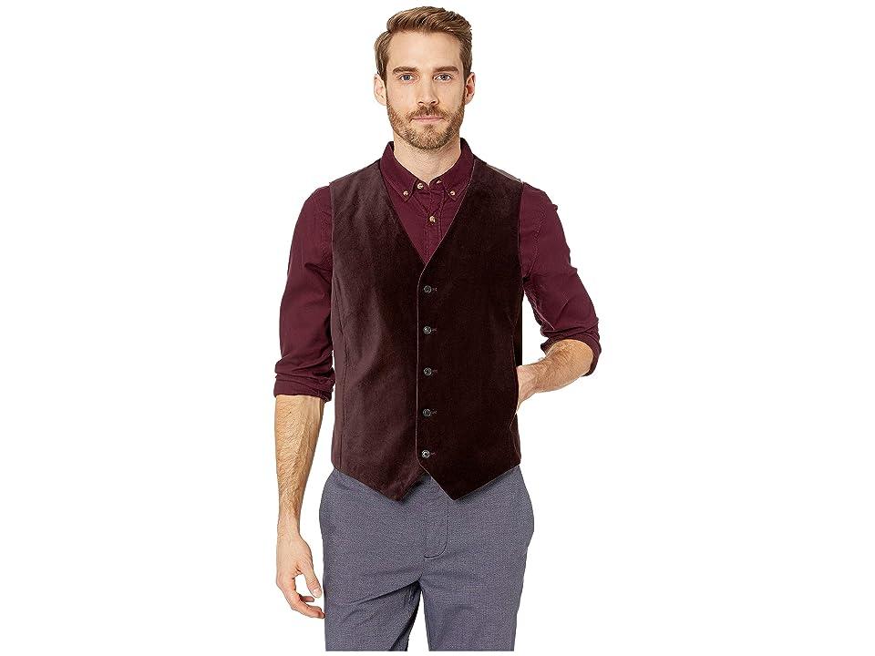 Perry Ellis Slim Fit Velvet Suit Vest (Port) Men