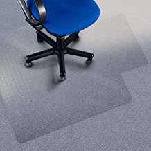 etm Premium Chair Mat with Lip - 90x120cm (3'x4') - Carpet Floor Protection - 100% Pure Polycarbonate, No-Recycling Material - Transparent, High Impact Strength