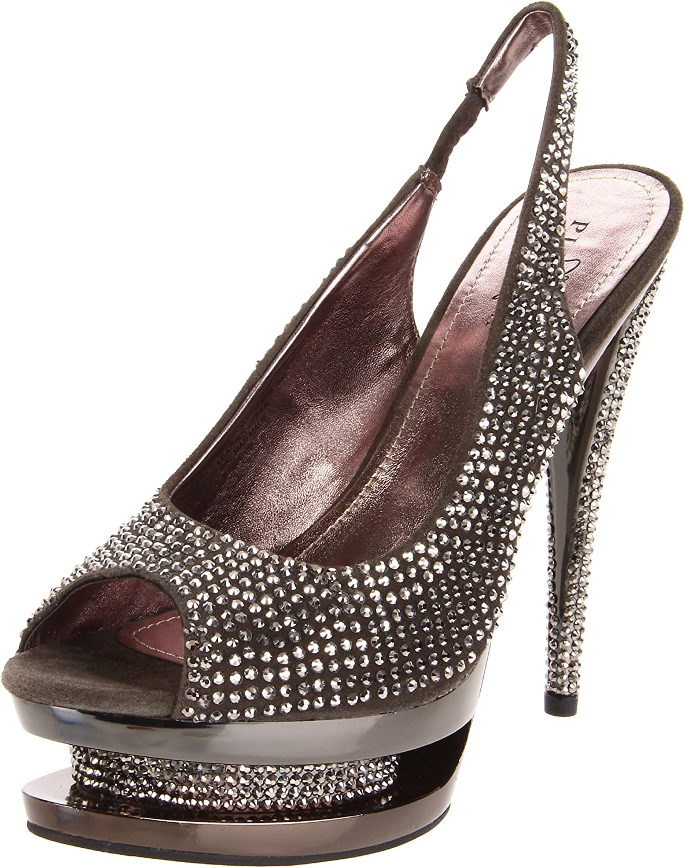 Pleaser Women's Fascinate-654DM DGYS M Platform Sandal