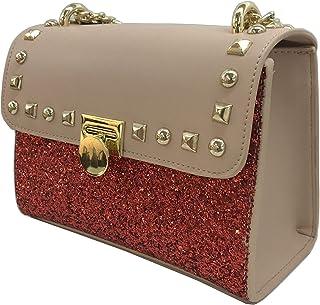 Women's sequin rivet large capacity chain Messenger bag shoulder bag
